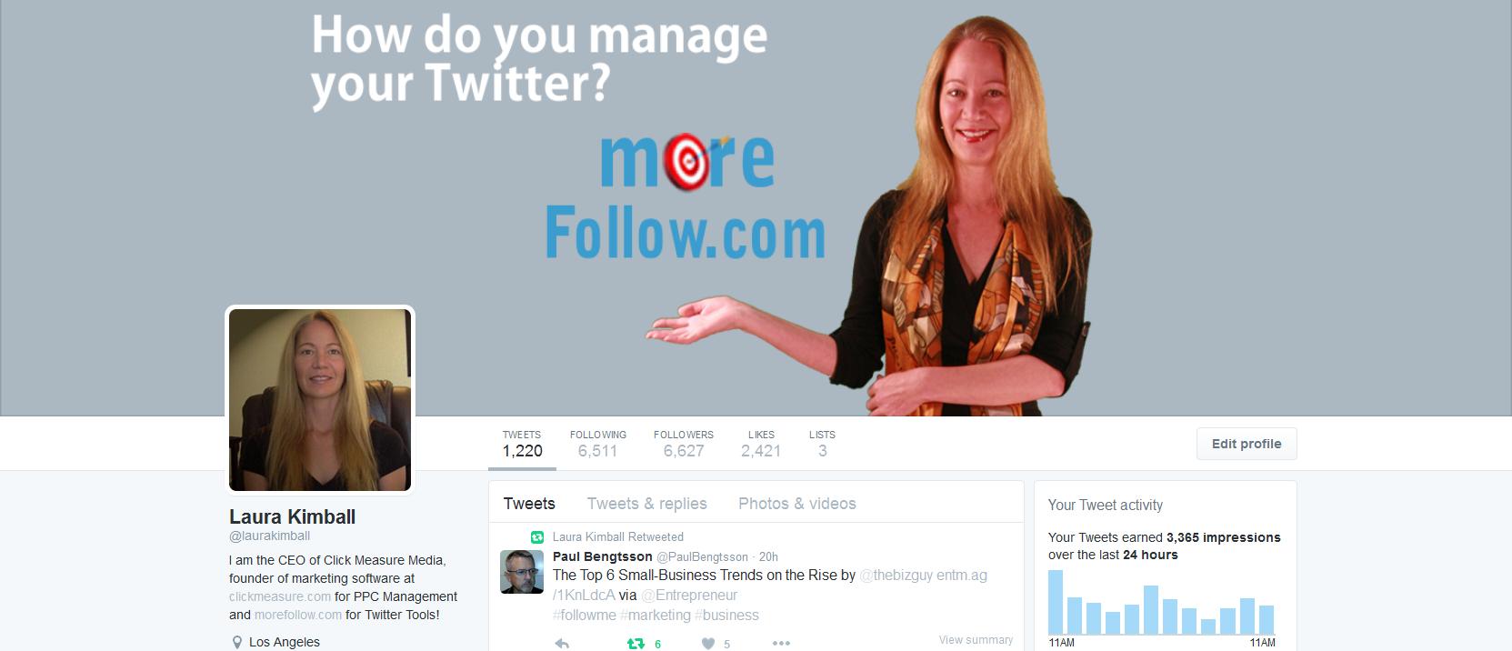 Laura Kimball Twitter Profile